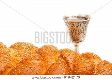 Challah and Kiddush cup