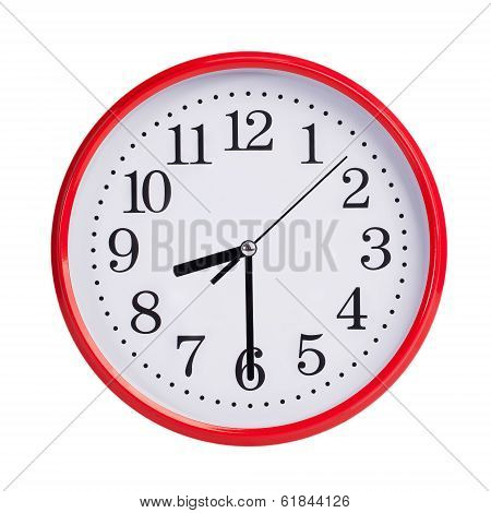 Half Past Eight On A Round Clock Face