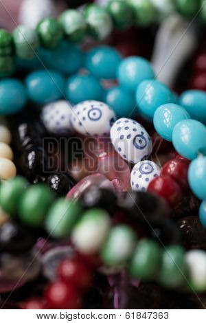 a Close Up Of Islamic Prayer Beads . poster