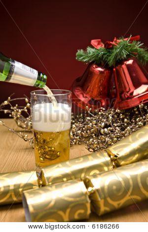 Beer On Christmas Table