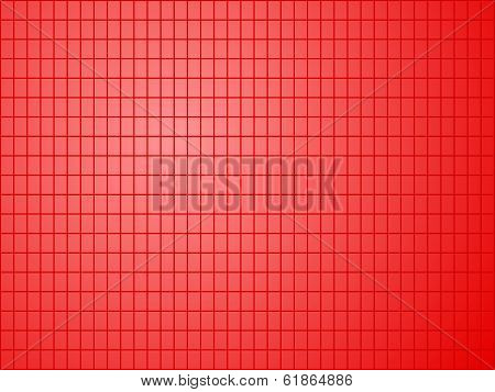 Red Background With Quadrilateral Pattern