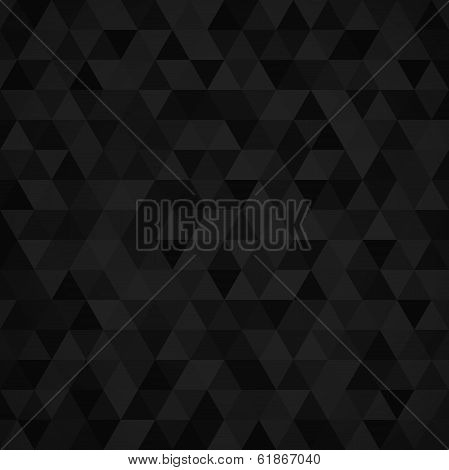 Geometric mosaic pattern from black triangle