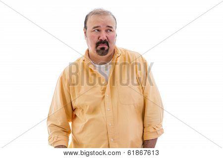 Distrustful Sceptical Middle-aged Man