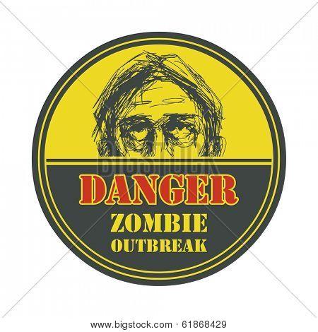 Poster Zombie Outbreak.   Vector illustration. Eps8