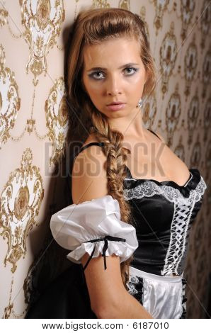 Woman In A Maid Costume