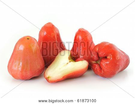 Rose Apples Isolated On White Background