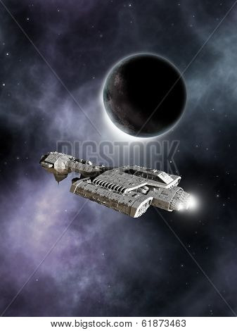 Dark World - Science Fiction Battle Cruiser