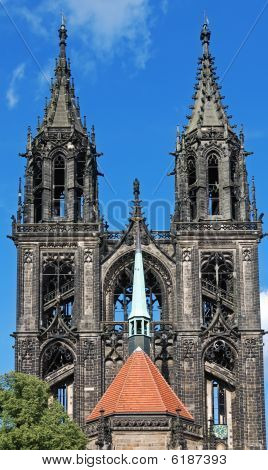 Cathedral in Albrechtsburg castle centre of Meissen Germany (Europe). poster