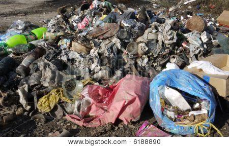 Closeup Of A Dump
