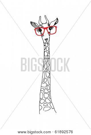 Vector sketch giraffe illustration