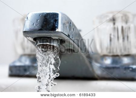 Running Water From A Tap