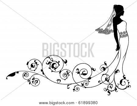 Bride Wedding Fashion Silhouette