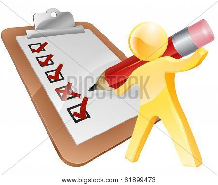 Survey Clipboard Man