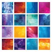 Abstract Geometric backgrounds. Polygonal vector design. This is file of EPS8 format. poster