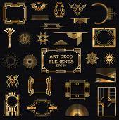 Art Deco Vintage Frames and Design Elements - in vector poster