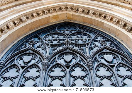 Architectual Detail Of York Minster In City Of York, Uk