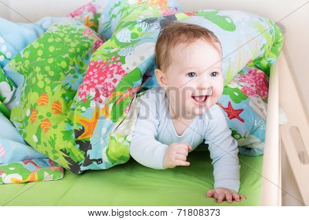 Happy Laughing Baby Playing Peek-a-boo