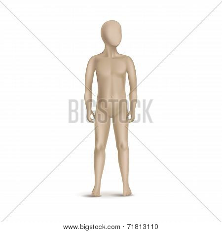 Vector Child Mannequin Isolated on White