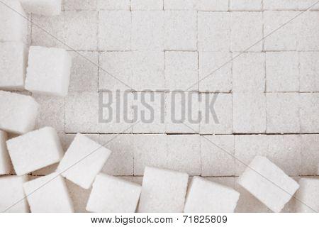 White refined sugar background poster