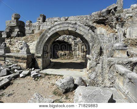 Part of Nymphaeum in Perge.