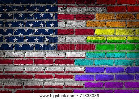 Dark Brick Wall - Lgbt Rights - USA