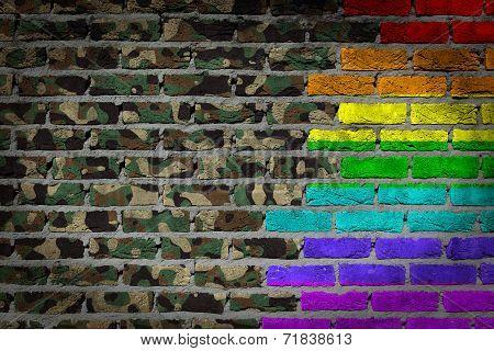 Dark Brick Wall - Lgbt Rights - Army Camouflage