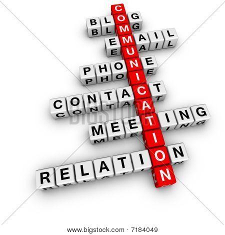 Palavras cruzadas de comunicação