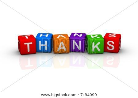 thanks (buzzword colorful cubes 3D hires series) poster