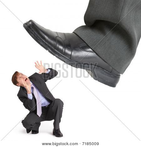 Big Foot Of Crisis Crushes Small Entrepreneur