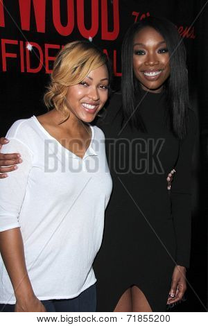 LOS ANGELES - AUG 2:  Meagan Good, Brandy Norwood at the Staying Power: Building Legacy & Longevity in Hollywood at Montalban Theater on September 2, 2014 in Los Angeles, CA