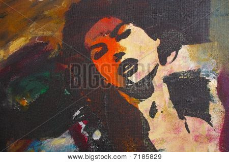 original oil painting on canvas for giclee background or concept.pop portrait of womans face poster