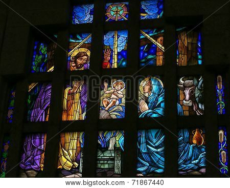 Nativity Scene - Stained Glass