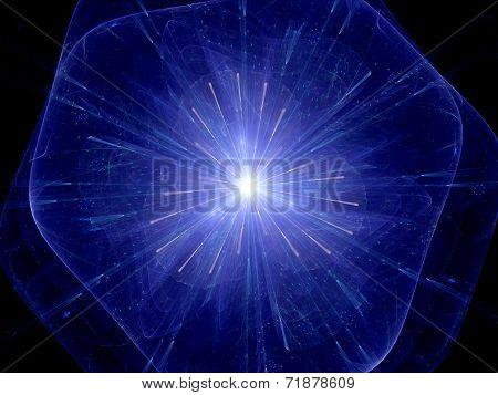 Big bang theory computer generated abstract background poster