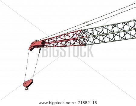 Crane Isolated On White