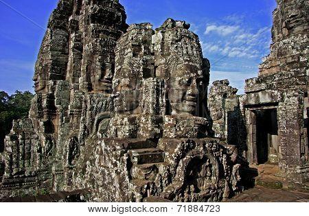 Angkor Way / Angkor thom Cambodia at sunset