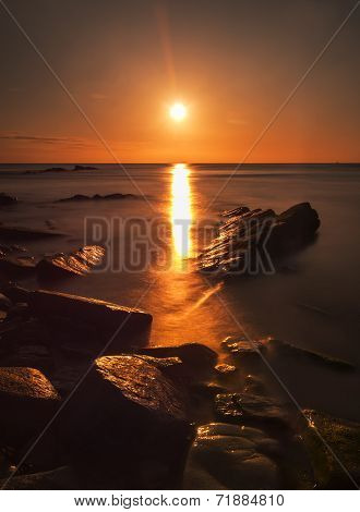 Rocky Coast Sunrise