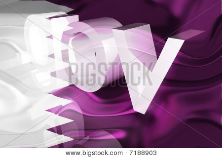 Flag Of Qatar Wavy Government