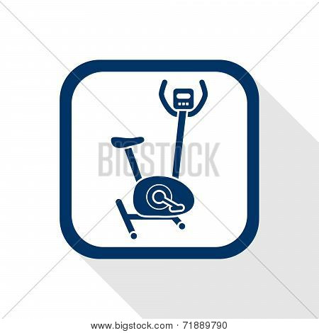 Square Blue Icon Hometrainer Stationary