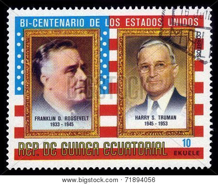 Presidents F. D. Roosevelt And H. Truman