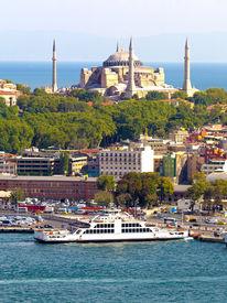 Hagia Sophia and Sirkeci Port