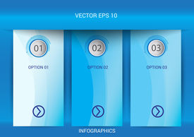 Modern Spiral Infographics Options Banner. Vector Illustration. Number Options