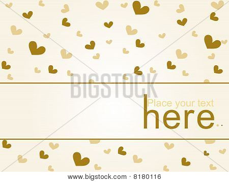 Romantic vector heart background