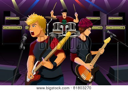 Teenagers In A Rock Band