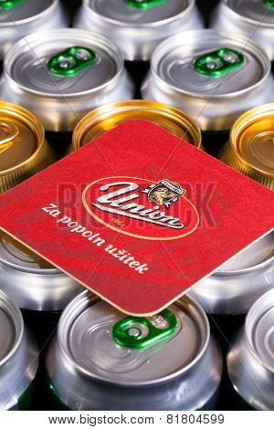 Beermat From Union Beer On The Cans.