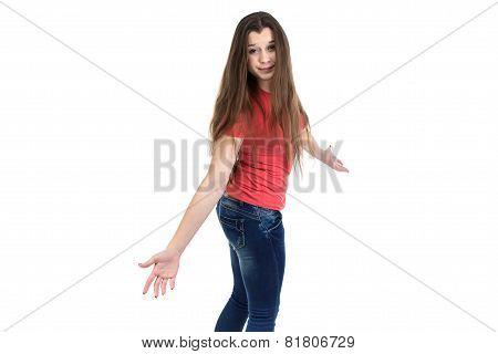 Image of confused teenage girl