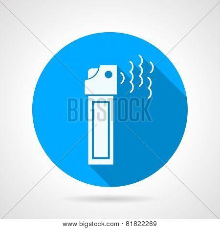 Tear pepper spray flat vector icon