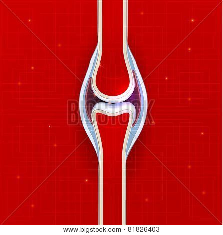Human Joint Abstract Background.