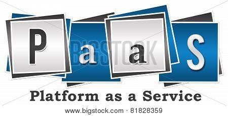 PaaS - Platform As A Service Four Blocks