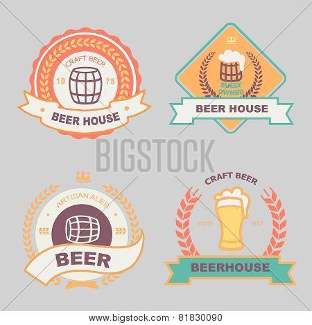 Beer bub bar label design logo