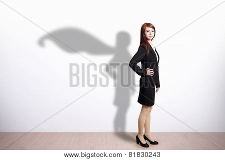 Superhero Business Woman